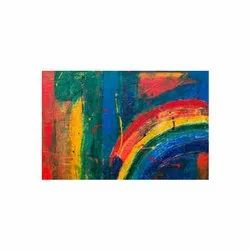 Matte Multicolor Abstract Painting