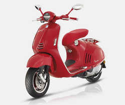 946 Red 150 Vespa Scooters