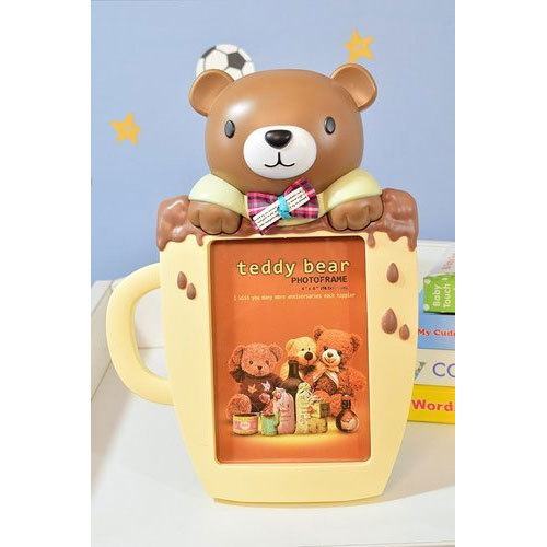 Brown Plastic Teddy Bear Photo Frame, Rs 649 /piece, Sankam ...
