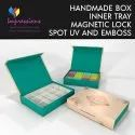 Handmade Rigid Box with Magnetic Lock And Inner Tray