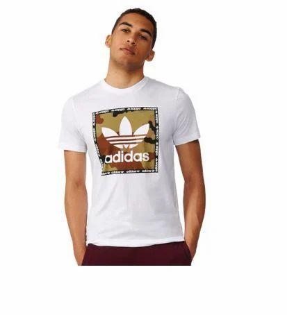 premium selection 0f992 2de31 White Round Mens Adidas Originals Camo Box Tee