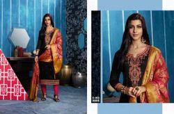 Unstitched Bridal Wear Jam Silk Cotton Punjabi Suits