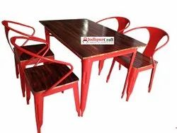 Industrial Dinning Set, Seating Capacity: Four, Size: 2.5X4