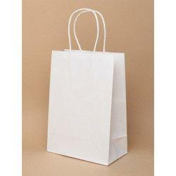 12.25 x 5 x 13.35 Inch White Paper Gift Bag