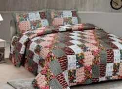 Floral Print Cotton Bedsheet for Double Bed