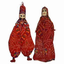 Rajasthani Traditional Dancing Puppet for Decorative And Showcase