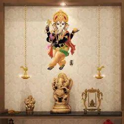 Rangoli PVC Vinyl Dancing Ganesha Modern Art, Size: 45cm