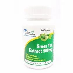 Global Nutrihealth Green Tea Extract 500 mg Capsules, Packaging Size: 100 Capsules
