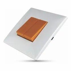 Kolors 10A Kaleido Pumpkin Orange Modular Switch