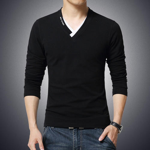 80d505dd7fa85d Cotton V-Neck Men's Formal T-Shirt, Rs 135 /piece, VK Garments | ID ...