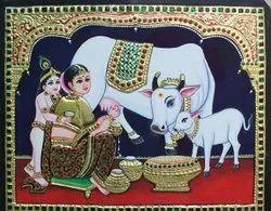 Yashoda Krishna Tanjore Painting