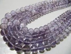 Natural Pink Amethyst Round Faceted Beads 8 to 10mm Strand 8 inches Long