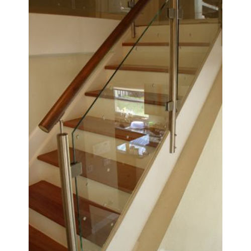 Captivating Stainless Steel Staircase Glass Railing