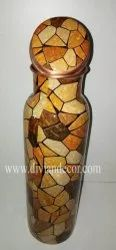 Meenakari Printed Pure Copper Bottle