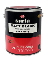 Surfa Matt Black Enamel Paint