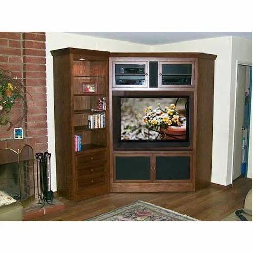 Brown Tv Base Corner Cabinets Unit Rs