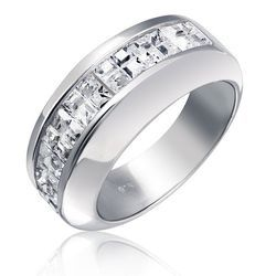 Unisex Diamond Wedding Ring