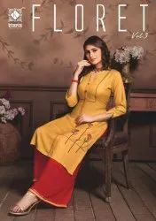 Floret Vol-3 Rayon With Beautiful Designer Kurti With Plazzo