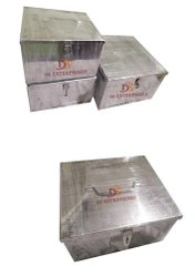 Silver Rectangular stainless steel box, Packaging Type: Normal, Thickness: 1 Mm