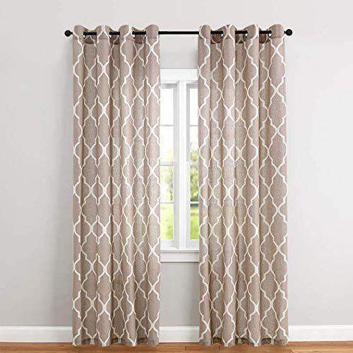 Printed Brown Windows Curtains Rs 350