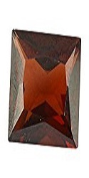 Brown Glass Garnet Gemstone