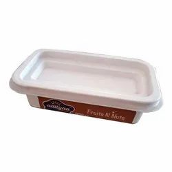Polypropylene 75 ml Rectangular Cup With Label Lid And Spoon