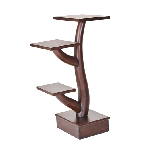 Wooden Corner Stand Wooden Stand Pristino Furnitures