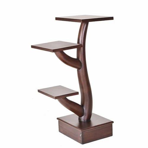 Wooden Corner Stand Lakdi Ka Stand Pristino Furnitures