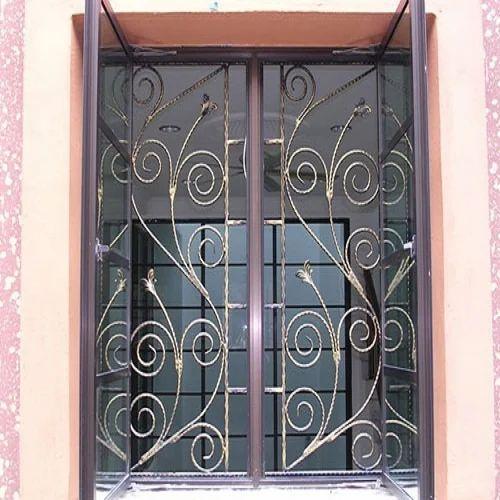 Iron Window Grill, Iron Window, लोहे की खिड़की की ग्रिल