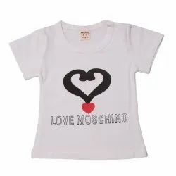 White Cotton Kidofash Trendy Tees for Kids, Age Group: 6 Month To 4 Year
