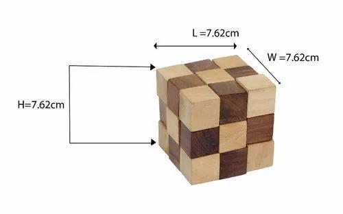 Desi Toys Snake Cube Puzzle Ghan Akar Brain Teaser