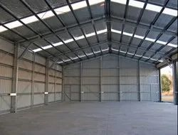 Ms Steel Prefab Factory Roofing Sheds, for Industrial, On Site