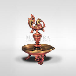 Incandescent Handmade Bronze Annam Lamp with Three Leg
