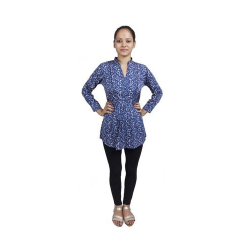 5ea8b831e15413 Medium And Large Ladies Printed Cotton Tunic Top