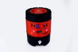 Panara The Unbreakable Orange Black Insulated Water Jug, Capacity: 18 ltr