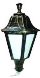 LED Antique Post Top Garden Gate Light