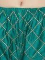 Ladies Green Ladies Chikan Embroidery Palazzo