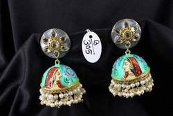 Hand Painting Jhumka Earring
