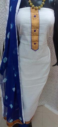Ari Work Suits - Chanderi Aari Work Suit Manufacturer from Jaipur