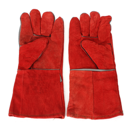 Red Welding Safety Gloves