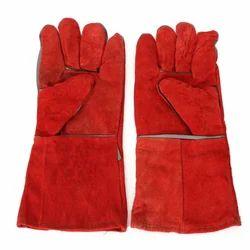 Red Welding Safety Gloves