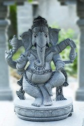 UR Astro Traditional Granite Dancing Ganesha Statue