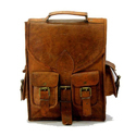 Men Goat Leather Hand Bag