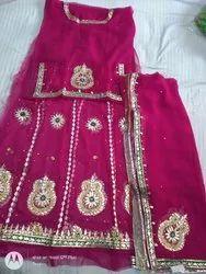 Semi Pure Georget  Rajputi Poshak