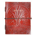 Tree Embossed Leather Journal