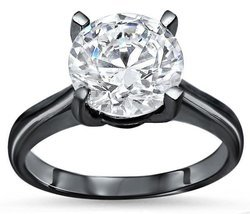 Moissanite Round Stone Ring