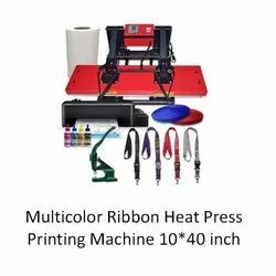 Id Card Ribbon Printing Heat Press Machine