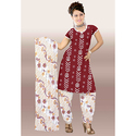 Maroon Bandhej Fancy Suit