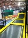 Trampoline Park With Trampolines, Foam Pits, Ropes, Tyres