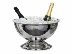 Stainless Steel Hammered Champagne Punch Bowl
